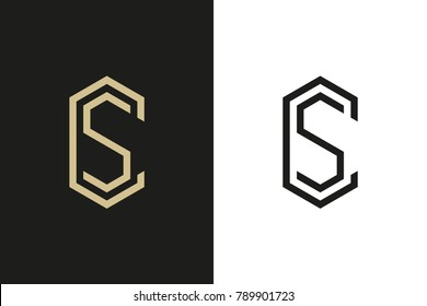 C and S Letter logo, Cube Logo