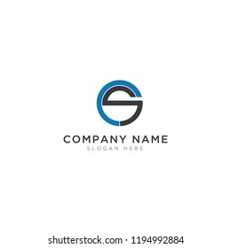 C and S letter Logo Template Design Vector, Emblem, Design Concept, Creative Symbol, Icon