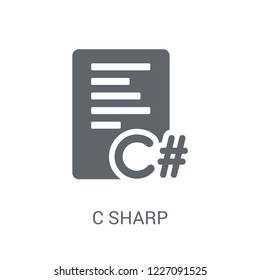 C sharp icon. Trendy C sharp logo concept on white background from Programming collection. Suitable for use on web apps, mobile apps and print media.