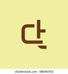 C & T Letter logo design vector element