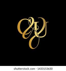 C & U / CU logo initial vector mark