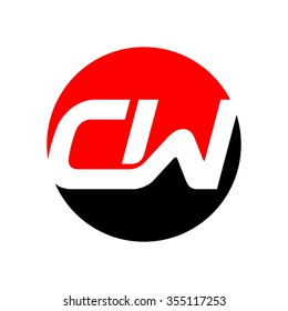c and w logo vector.