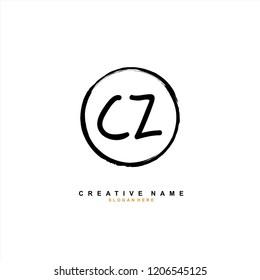 C Z CZ Initial abstract logo concept vector