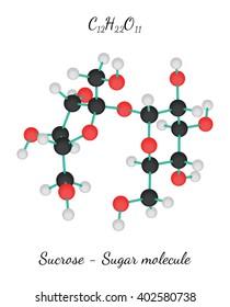 C12H22O11 Sucrose sugar molecule