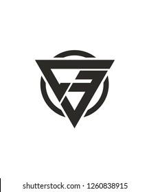 C3 3C Triangle Super Hero concept based Circle Logo design