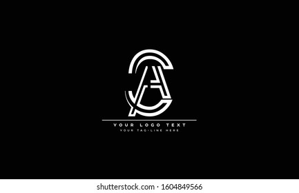 CA ,AC ,A ,C Letter Logo Design with Creative Modern Trendy Typography