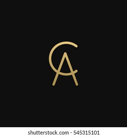 CA or AC logo for beauty or fashion
