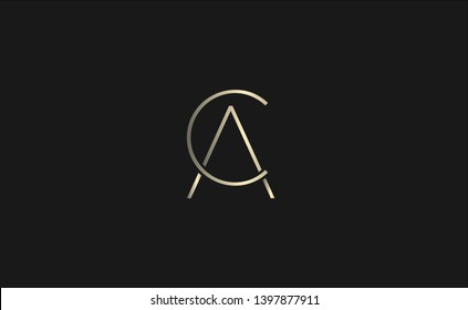 CA or AC logo design. Unique symbol.