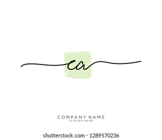 CA C A Initial handwriting logo template