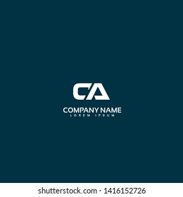 CA company linked letter logo concept. Designed for your web site design, logo, app, UI. initial logo design