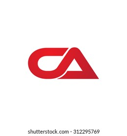 CA company linked letter logo
