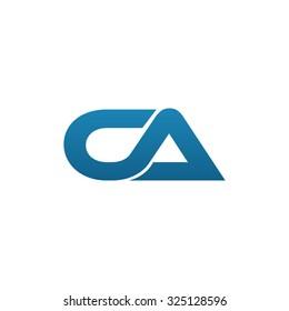 CA company linked letter logo blue