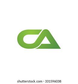CA company linked letter logo green