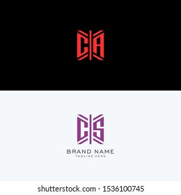 CA CS monogram Logo Set modern graphic design, Inspirational logo design for all companies. -Vectors