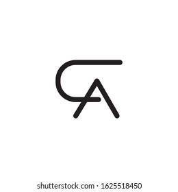 CA initial letter logo template vector icon design