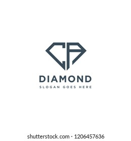 CA Initial Letters Logo Design with Diamond Shape for Jewelry Company Store