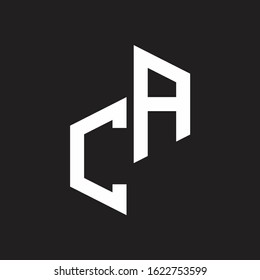 CA Initial Letters logo monogram with up to down style