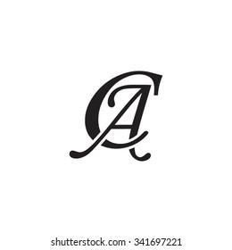 CA initial monogram logo
