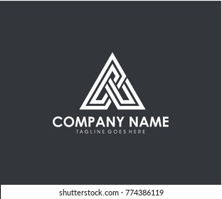 CA initial triangle logo vector eps 10