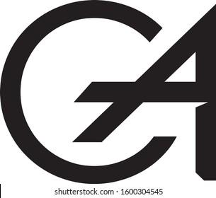 CA Letter Logo Design Monogram