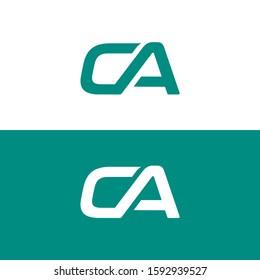 CA Letter Logo Design Template, CA