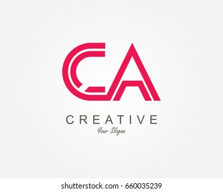 CA Letter Logo Design Template Element