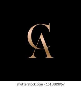 CA letters logo. Vector illustration.