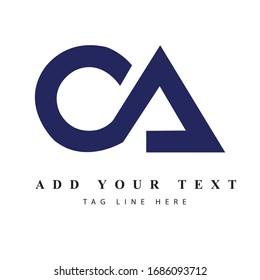 CA logo design & illustration vector art for print