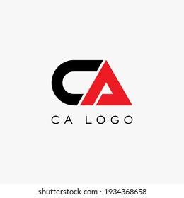 CA logo design. Vector illustration.