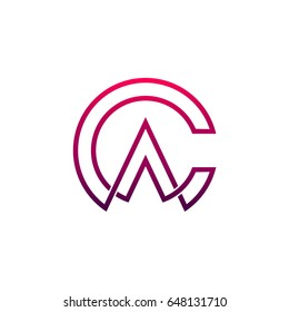 CA Logo, Letter C And Letter A Initial Logo Template