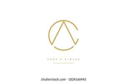 CA,AC ,C ,A  Abstract letters Logo Monogram