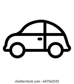 Cab Line Vector Icon