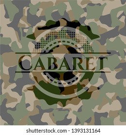 Cabaret on camouflaged texture. Vector Illustration. Detailed.