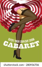 Cabaret retro poster. Vector illustration.