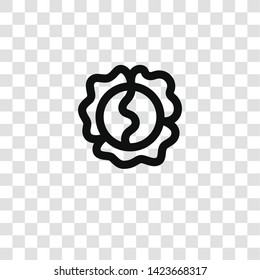 cabbage icon from miscellaneous collection for mobile concept and web apps icon. Transparent outline, thin line cabbage icon for website design and mobile, app development