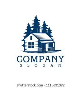 Cabin Log in Logo Template