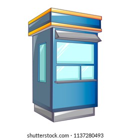 Cabine street shop icon. Cartoon of cabine street shop vector icon for web design isolated on white background