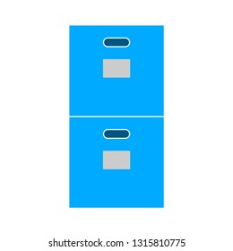 cabinet archive icon - vector file drawer - office storage - business document drawer icon