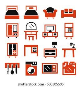 cabinet, furniture icon set