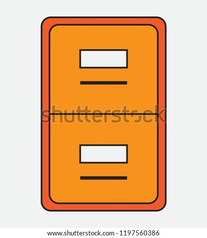 Cabinet Icons Various Purposes Easy Edit Stock Vector