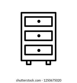 Cabinet vector icon