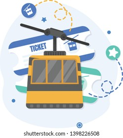 Cable car and travel tickets,Cable car
