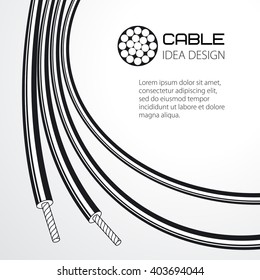 Cable, wire, vector design.