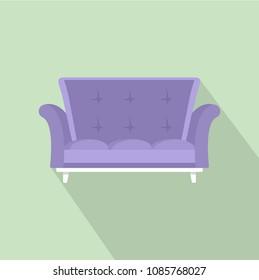 Cabriole sofa icon. Flat illustration of cabriole sofa vector icon for web design