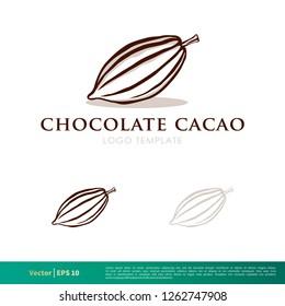 Cacao Fruit Icon Vector Logo Template Illustration Design. Vector EPS 10.