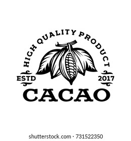 cacao logo template in style vintage