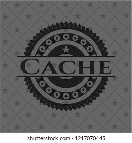 Cache realistic black emblem