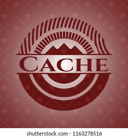 Cache red icon or emblem