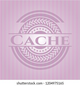 Cache retro style pink emblem