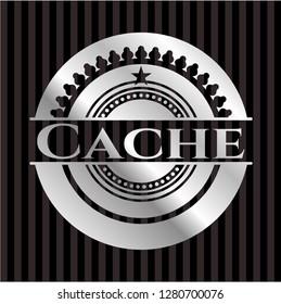 Cache silver shiny emblem